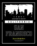 Horizonte California de la tipografía del vector Fotos de archivo libres de regalías