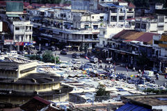 Horizonte Camboya de Phnom Penh Imagen de archivo libre de regalías