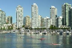 Horizonte Canadá de la ciudad de Vancouver imagen de archivo