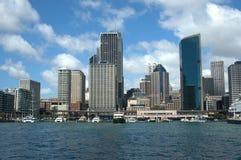 Horizonte circular del puerto de Quay Sydney Fotografía de archivo libre de regalías