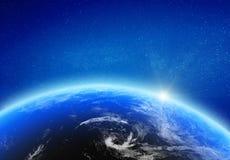 Horizonte claro do fulgor da terra do planeta ilustração do vetor
