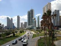 Horizonte céntrico de ciudad de Panamá Fotografía de archivo libre de regalías