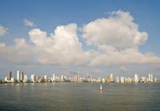 Horizonte Colombia de Cartagena Imagen de archivo libre de regalías
