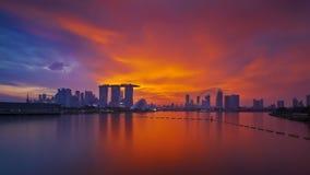 Horizonte colorido de Singapur Foto de archivo