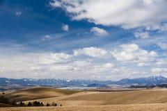 Horizonte con las montañas Foto de archivo libre de regalías