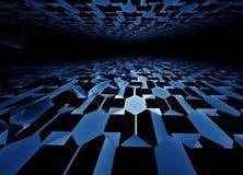 Horizonte de alta tecnología azul Fotos de archivo libres de regalías