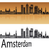 Horizonte de Amsterdam V2 en naranja libre illustration