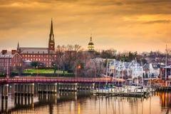 Horizonte de Annapolis Fotos de archivo libres de regalías