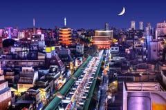 Horizonte de Asakusa Imágenes de archivo libres de regalías