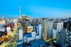 Horizonte de Asakusa, Tokio - Japón Fotos de archivo libres de regalías