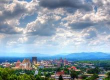Horizonte de Asheville Fotos de archivo libres de regalías