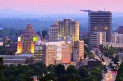 Horizonte de Asheville Imagenes de archivo