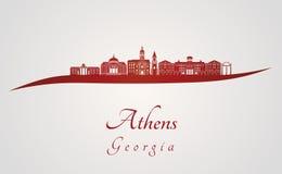 Horizonte de Atenas GA en rojo Fotos de archivo