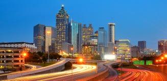Horizonte de Atlanta Fotos de archivo libres de regalías