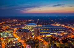 Horizonte de Atlanta céntrica, Georgia Foto de archivo libre de regalías
