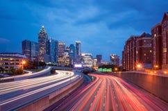 Horizonte de Atlanta céntrica, Georgia, los E Fotografía de archivo libre de regalías