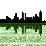 Horizonte de Atlanta con el binario stock de ilustración