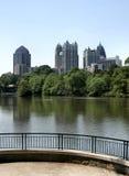 Horizonte de Atlanta del Midtown Fotografía de archivo libre de regalías