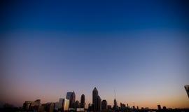 Horizonte de Atlanta en la puesta del sol Imagenes de archivo
