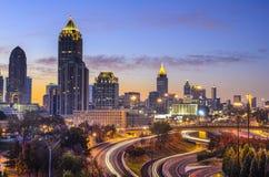 Horizonte de Atlanta, Georgia Imágenes de archivo libres de regalías