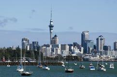 Horizonte de Auckland Foto de archivo