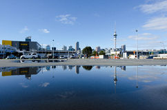 Horizonte de Auckland Fotos de archivo