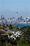 Horizonte de Auckland Imagenes de archivo