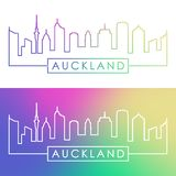 Horizonte de Auckland Estilo linear colorido libre illustration