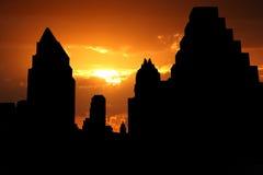 Horizonte de Austin en la puesta del sol stock de ilustración