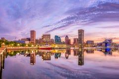 Horizonte de Baltimore, Maryland, los E.E.U.U. imagen de archivo libre de regalías