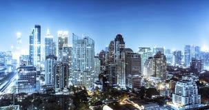 Horizonte de Bangkok Imagen de archivo libre de regalías