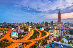 Horizonte de Bangkok Tailandia Foto de archivo libre de regalías