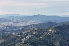 Horizonte de Barcelona Fotos de archivo