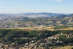Horizonte de Barcelona Imagen de archivo