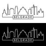 Horizonte de Belgrado estilo linear Fichero Editable del vector libre illustration