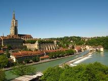 Horizonte de Berna, Suiza Foto de archivo libre de regalías