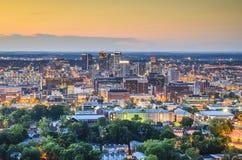 Horizonte de Birmingham, Alabama Imagen de archivo libre de regalías