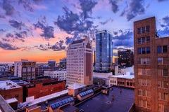 Horizonte de Birmingham Alabama foto de archivo