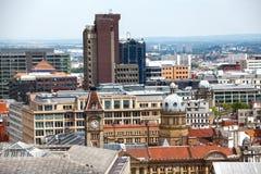 Horizonte de Birmingham Inglaterra Imágenes de archivo libres de regalías
