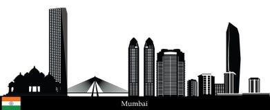 Horizonte de Bombay stock de ilustración