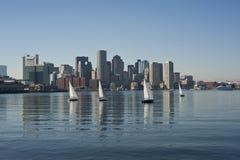 Horizonte de Boston imagenes de archivo