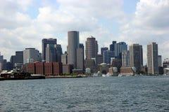 Horizonte de Boston foto de archivo
