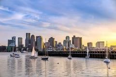 Horizonte de Boston Fotografía de archivo