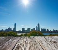 Horizonte de Boston foto de archivo libre de regalías
