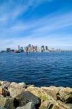 Horizonte de Boston Imágenes de archivo libres de regalías