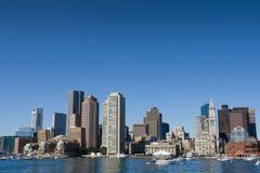 Horizonte de Boston del puerto interno Imagenes de archivo
