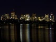 Horizonte de Boston en el río de Charles 1 Fotografía de archivo
