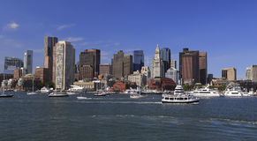 Horizonte de Boston, los E.E.U.U. fotos de archivo