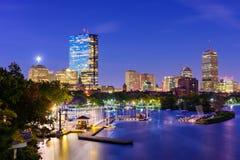 Horizonte de Boston, Massachusetts imagen de archivo libre de regalías