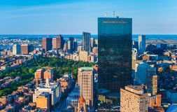 Horizonte de Boston, Massachusetts, los E foto de archivo libre de regalías